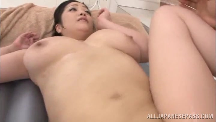 Exquisite big titted mature babe Minako Komukai whimpers while being doggy styled hard