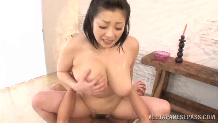 Admirable big titted mature Minako Komukai gets to have the fuck that's romantic as fuck