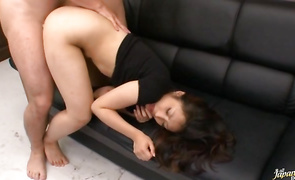 Lusty Shizuka Kanno loses breath during the time that swallowing a lengthy meat rocket