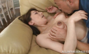 Racy Marina Matsumoto is trying to impress him with her skills