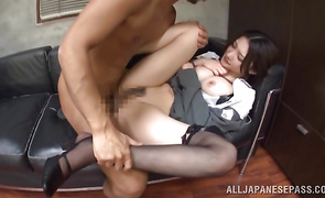 Mesmerizing mature darling Sae Aihara decided to be like a pro 'coz she likes sex