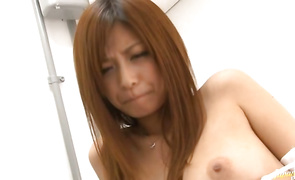 Whore Haruki Sato with handsome tits is striking and ready for some hot fucking