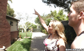 Engaging Tanya Tate enjoys riding roughly a large and hard tool
