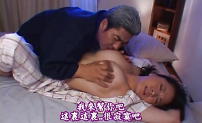 Magical bosomed woman Miki Sato eagerly drools over a throbbing dong meat