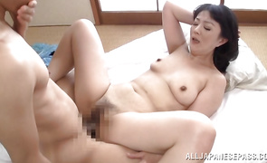 Mature hottie Hitomi Enjou is dissolute receives a stick in her tight fanny