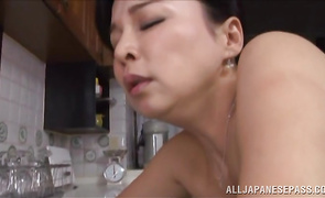 Luscious mature hotty Mai Itou is doing her splits while bf is just trying to fuck her good