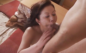 Mischievous aged playgirl Chizuru Iwasaki got fucked in many positions until she came