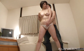 Beguiling older darling Chiaki Takeshita is willing for some interesting and wild banging