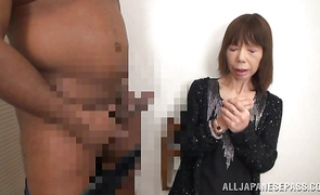 Wanton mature gf invited male to join her