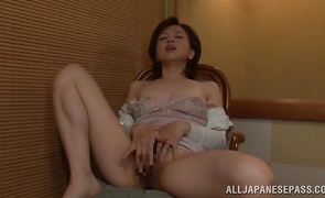 Enticing maid Kumi Kanzaki has superb sex with buddy