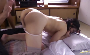 Horny bimbo Sewaka Hayase with firm tits gobbles up a plump prick