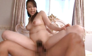 Hot big boobed mature lady Erena Tachibana has her skinny cunt destroyed by a large cock