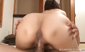 Passionate mature Mako Morishita with perky nipples got her each day dose of fuck