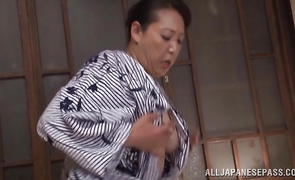 Sexy mature bimbo Name Koitoka takes joy stroking hard stick