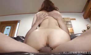 Nice-looking beauty Yuri Matsushima seducer gives her boyfriend a hardcore ride