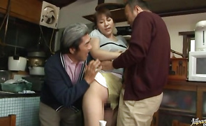 Enjoyable mature cutie Mirei Kayama with great tits getting fucked and she loves the spooning