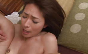 Striking mature minx Hisae Yabe is ready to ride hunk's dick