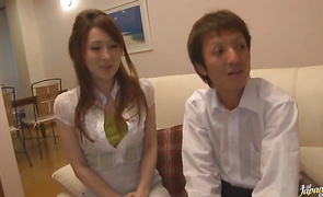 Bizarre Megu Kousaka comes over to see her love tunnel tester for sex