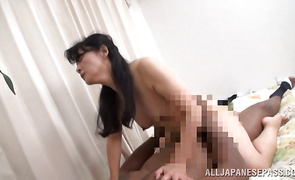 Swingeing mature cutie adores riding a very strong and massive penis