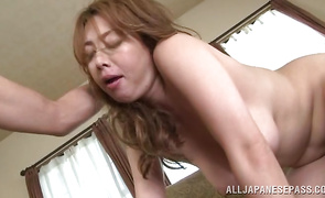 Prodigious babe Yumi Kazama gets her juicy love tube fingered