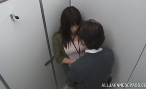 Beautiful angel Miku Sunohara experiences a screaming agonorgasmos while riding a hard prick