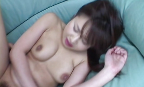 Lovable big titted mature Nanami Komachi is getting fucked from the back and moaning from pleasure a bit