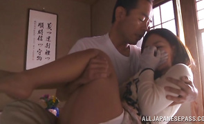 Lovable babe Kaho Kasumi knows how to ride chubby pricks