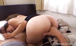 Mouthwatering floosy got fucked in the booty after she was done with sucking bf's prick