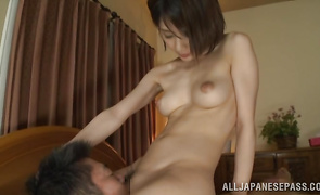 Sensational mature Yukina is in need of lad's thick dong