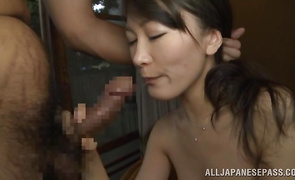 Engaging Kozue Hirayama gets her pussy drilled by a stiff jock