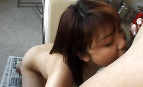 Sexual mature Senna Ogawa with handsome tits discovered the perfect lovestick and has to ride it