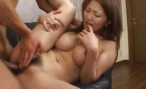 Ambitious mature Yuki Touma with curvy tits is horny and she reaches a huge agonorgasmos