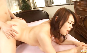 Heavenly bosomed mature Reiko Nakamori got fucked and enjoyed each single second of her adventure