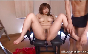 Sensual big titted Shiori Kamisaki is ready for some hot ramming