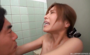 Playsome older Akari Asahina getting fucked and she likes it real well