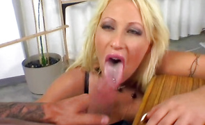 Betwixt staggering blond mature sweetie Candy Manson and mate sex is always electrifying