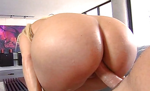 Magnificent blond darling Gina Lynn is about to be pounded super hard