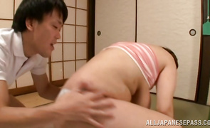 Mesmerizing mature Reiko Yumeno is getting banged the way she wanted and screaming from enjoyment while cumming