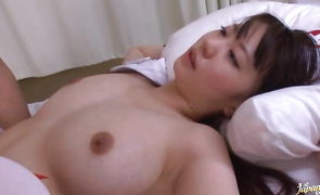 Enchanting big titted mature Noa Kasumi loves riding stiff fuck stick