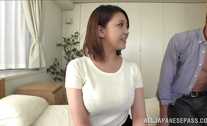Lustful bosomed Conomi gets her nana fucked in a lot of positions