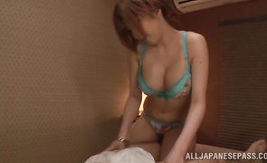 Sinful bosomed mature cutie Reira Akane getting boned by pal so hard