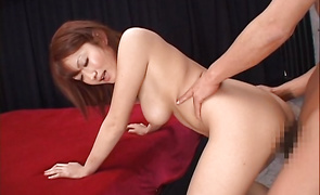 Cheerful busty mature Reon Otowa got fucked in the butt and started screaming from pleasure while cumming