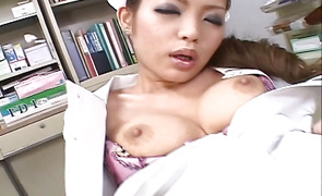 Mesmerizing big breasted girl Romihi Nakamura is getting fucked and moaning from pleasure while experiencing an intense agonorgasmos