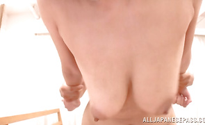 Lustful mature Suzu Tsubaki with great tits and her slippery and moist nana