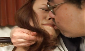 Ravishing babe Reiko Nakamori with huge tits gets more shaft than she can handle