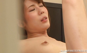 Voluptous housewife Riona Kizaki gets ravaged