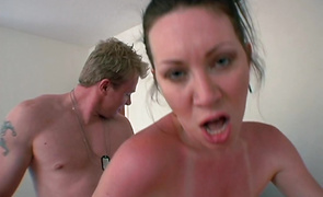 Bf cums on love tunnel of insatiable brown-haired mature Ray Veness after nice sex with her
