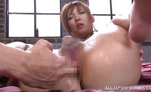 Sassy maid Yuu Matsuyama receives a biggest tool in her juicy pussy