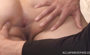 Luscious woman Fujiko Minegishi loves to ride hard pecker and give bjs