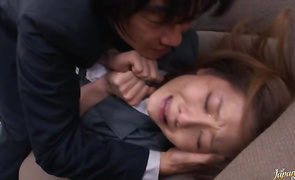 Glorious bosomed mature Yuma Asami got down and smutty with fellow she fell in love with